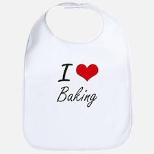 I Love Baking Artistic Design Bib