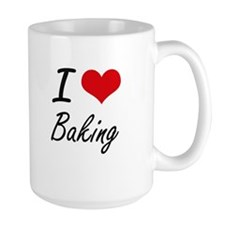 I Love Baking Artistic Design Mugs