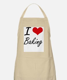 I Love Baking Artistic Design Apron