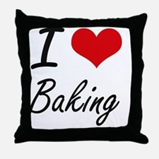 I Love Baking Artistic Design Throw Pillow