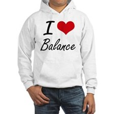 I Love Balance Artistic Design Hoodie