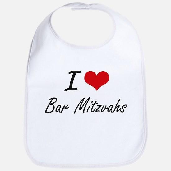 I Love Bar Mitzvahs Artistic Design Bib