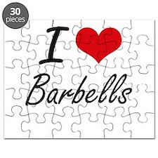 I Love Barbells Artistic Design Puzzle