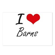 I Love Barns Artistic Des Postcards (Package of 8)