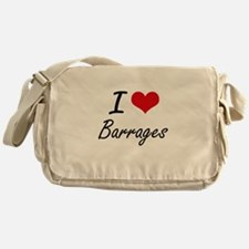 I Love Barrages Artistic Design Messenger Bag