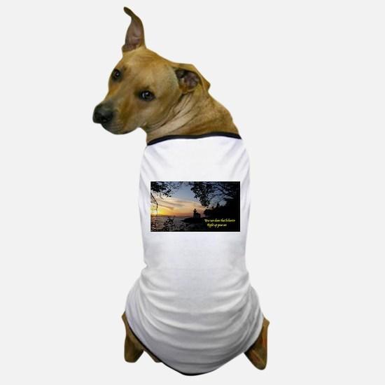 Sunset Lighthouse Dog T-Shirt