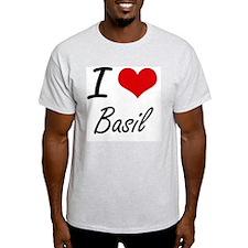 I Love Basil Artistic Design T-Shirt