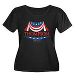 Fred Thompson Women's Plus Size Scoop Neck Dark T-