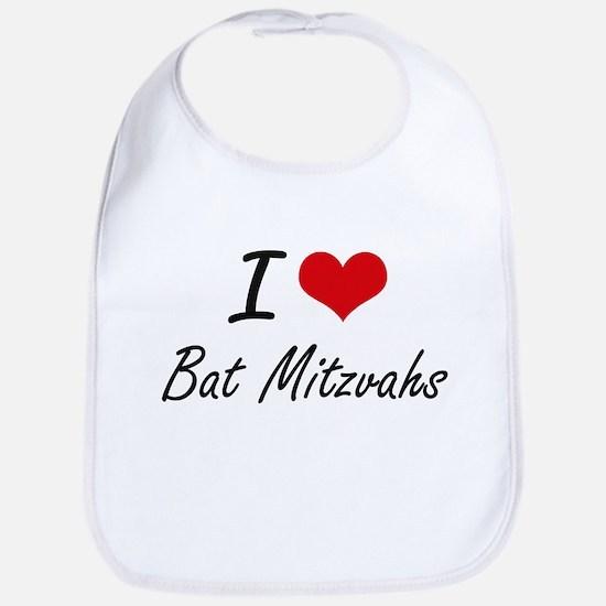 I Love Bat Mitzvahs Artistic Design Bib