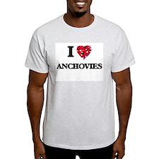 I Love Anchovies food design T-Shirt
