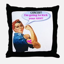 Rosie Fighting Cancer design Throw Pillow