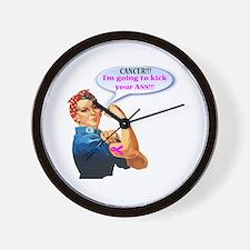 Rosie Fighting Cancer Design Wall Clock