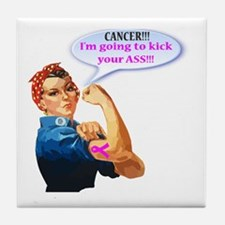Rosie Fighting Cancer Design Tile Coaster