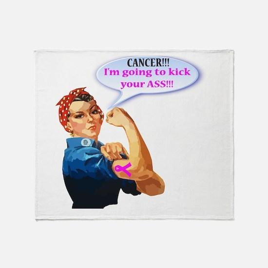Rosie Fighting Cancer Design Throw Blanket