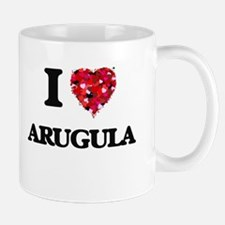 I Love Arugula food design Mugs