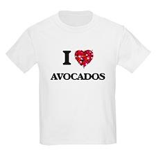 I Love Avocados food design T-Shirt