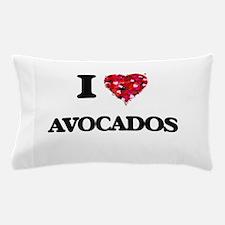I Love Avocados food design Pillow Case