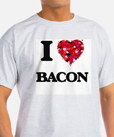 I Love Bacon food design T-Shirt
