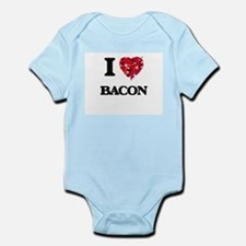 I Love Bacon food design Body Suit