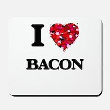I Love Bacon food design Mousepad