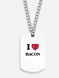 I Love Bacon food design Dog Tags