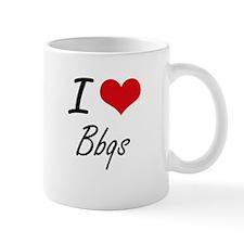 I Love Bbqs Artistic Design Mugs