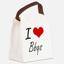 I Love Bbqs Artistic Design Canvas Lunch Bag