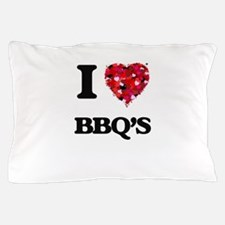 I Love Bbq'S food design Pillow Case