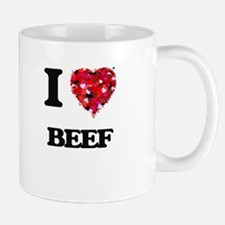 I Love Beef food design Mugs