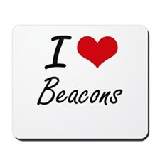 I Love Beacons Artistic Design Mousepad