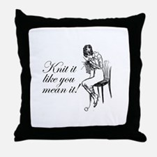 Knit It Like You Mean It Throw Pillow