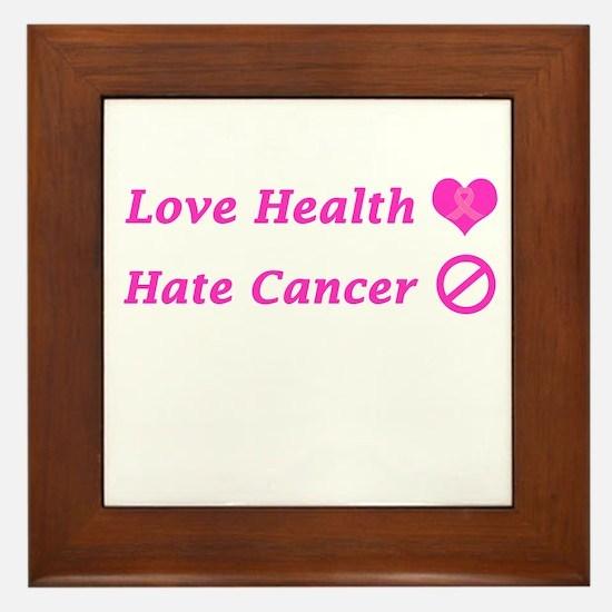 Love Health, Hate Cancer Charity Framed Tile