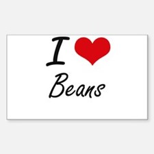 I Love Beans Artistic Design Decal