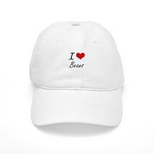 I Love Beans Artistic Design Baseball Baseball Cap