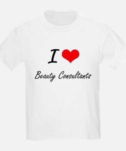 I Love Beauty Consultants Artistic Design T-Shirt