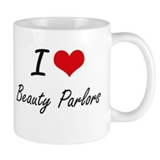 I Love Beauty Parlors Artistic Design Mugs