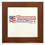 Thompson for President Framed Tile