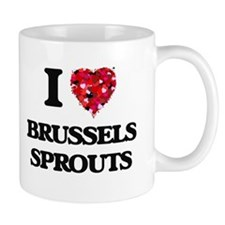 I Love Brussels Sprouts food design Mugs