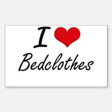 I Love Bedclothes Artistic Design Decal