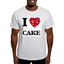 I Love Cake food design T-Shirt