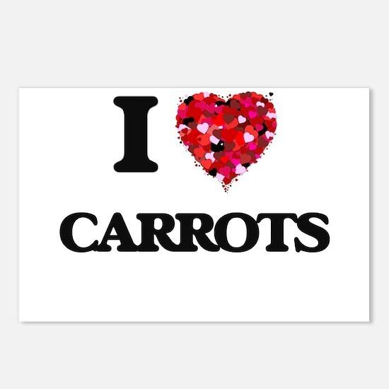 I Love Carrots food desig Postcards (Package of 8)