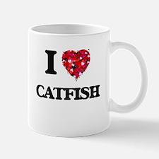 I Love Catfish food design Mugs