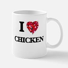 I Love Chicken food design Mugs