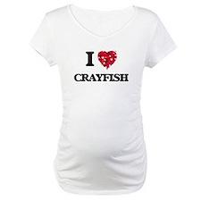 I Love Crayfish food design Shirt