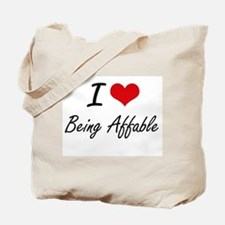I Love Being Affable Artistic Design Tote Bag