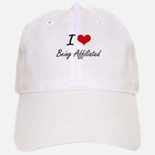 I Love Being Affiliated Artistic Design Baseball Baseball Cap