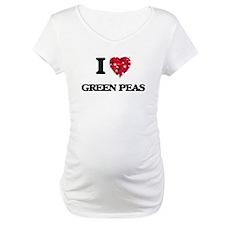 I Love Green Peas food design Shirt