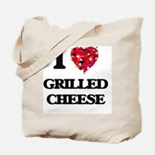 I Love Grilled Cheese food design Tote Bag