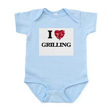 I Love Grilling food design Body Suit