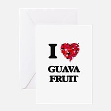 I Love Guava Fruit food design Greeting Cards